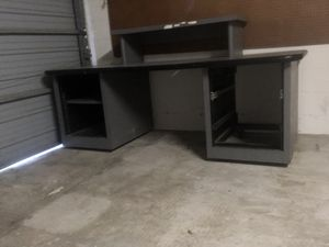 Big work desk on rollers for Sale in Clearwater, FL