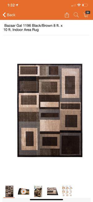 Bazaar Gal 1196 Black/Brown 8 ft. x 10 ft. Indoor Area Rug for Sale in Fresno, CA