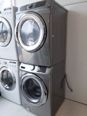 Samsung front load washer and electric dryer set in good condition with 90 day's warranty for Sale in Mount Rainier, MD