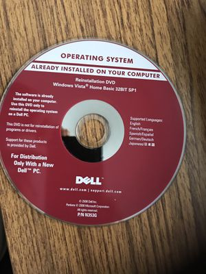 Dell windows vista operating system new works with all dell computer s for Sale in Casselberry, FL