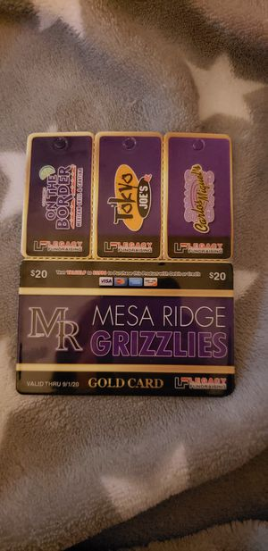 Mesa Ridge gold cards for sale. Only $20 and it doesn't expire until 9/2020!! Great deals on restaurants for Sale in Fountain, CO