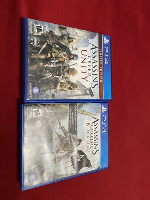 Assassins creed unity and black flag for Sale in Bakersfield, CA