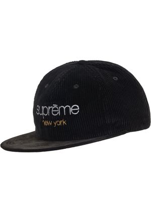 Supreme Cap Classic Logo Corduroy 6-panel black for Sale in Los Angeles, CA