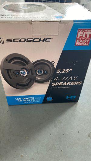 Scosche 5 1/2 in 4 Way Speakers for Sale in Lehigh Acres, FL