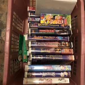 Lot Of Around 25 Vintage Disney VHS Tapes for Sale in Burlington, NJ