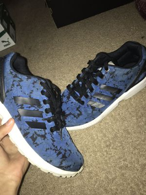 Navy Blue With Roses , Adidas Flux .. Size 7.5 Women for Sale in Camden, DE