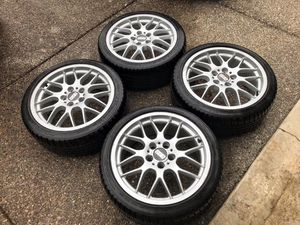 """18"""" BBS RX wheels and tires for Sale in Damascus, OR"""