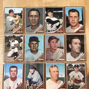 * (95) 1962 TOPPS BASEBALL CARDS * HALL of FAME PLAYERS/NL & AL LEADERS * for Sale in Lafayette, CA