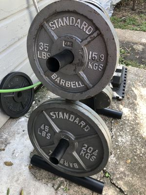 "2"" STANDARD OLYMPIC WEIGHTS!!!! for Sale in Houston, TX"