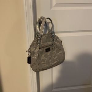 Small Authentic Coach Logo Crossbody Bag With Cotton Strap for Sale in Lexington, SC