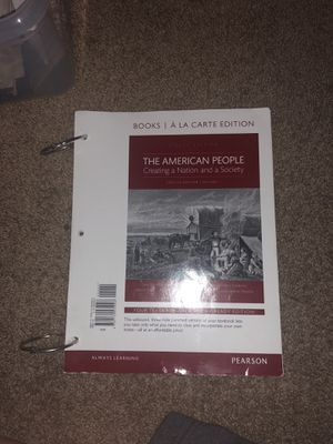 The American People US History for Sale in Lodi, CA