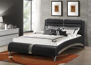 Brand New Jeremaine Queen Upholstered Bed Black! for Sale in Fairburn, GA