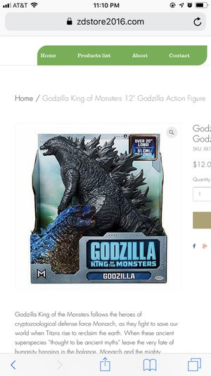 """Godzilla King of Monsters 12"""" Godzilla Action Figure for Sale in Houston, TX"""
