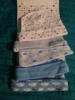 New baby 5 pack of binnie hats for Sale in Hesperia, CA