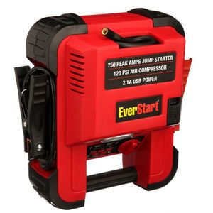 💥✨💥EVERSTART 750 Amp Jump Starter w/120 PSI Digital Compressor, Heavy Duty Clamps w/Reverse Polarity Alarm for Sale in Las Vegas, NV