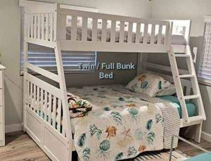 💫💫 White Twin/ Full Bunk Bed for Sale in Jessup, MD