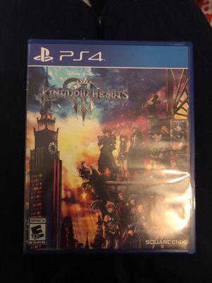 Kingdom hearts iii PS4. for Sale in Chicago, IL