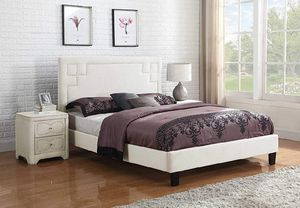 PLATFORM QUEEN BED FRAME no mattress AND nightstand for Sale in Scottsdale, AZ