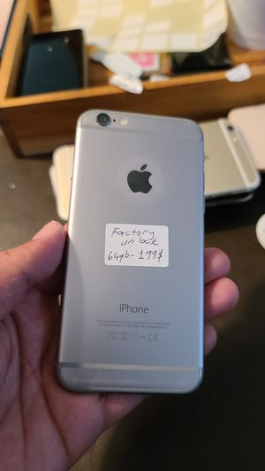 Iphone 6 Factory unlock 64gb for Sale in HOFFMAN EST, IL