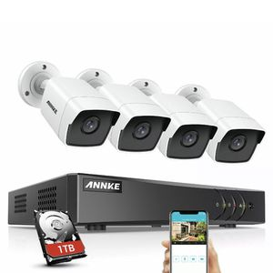 ANNKE 4x 5MP Bullet Camera 8CH H.265+ DVR Home Outdoor Security System Email 1TB for Sale in Whittier, CA
