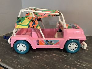 Barbie Jeep with trailer hitch to pull boat for Sale in Denver, CO