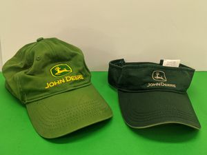 John Deere Hat & Visor - used, still good - One Size Fits Most for Sale in Arlington Heights, IL