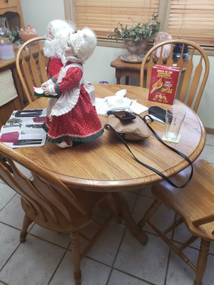 Solid wood table and 4 chairs for Sale in Salina, KS