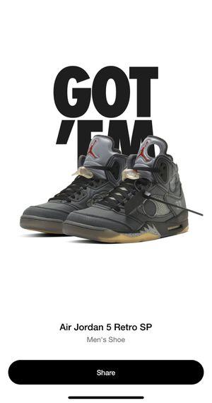 Off white Jordan 5 Size 14. NIB for Sale in Fort Wayne, IN