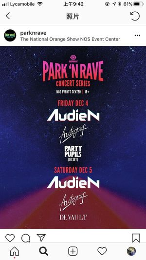 audien park n rave saturday pink parking ticket for Sale in Rowland Heights, CA