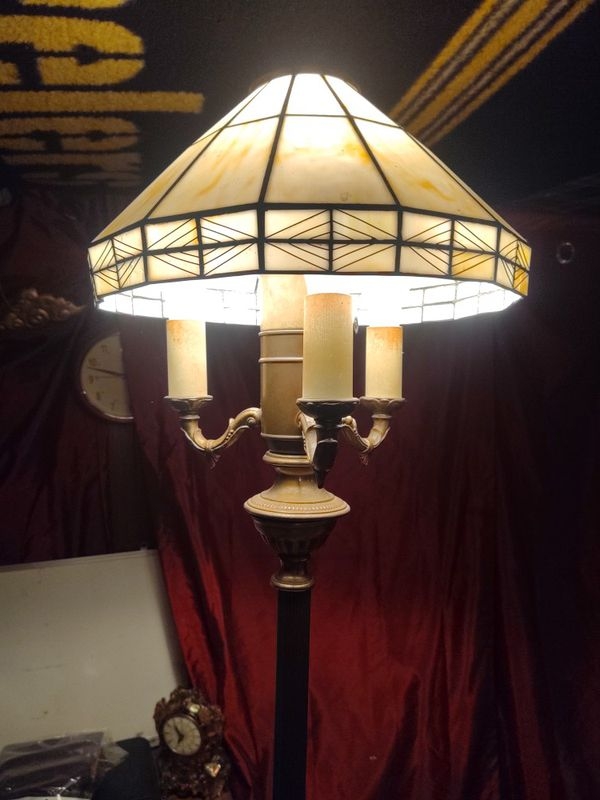 Antique brass floor lamp candelabra style
