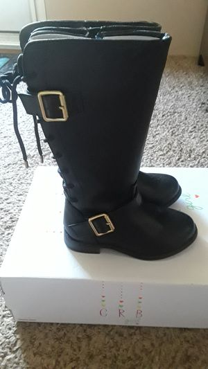 New Black boots for girls size 8 for Sale in Pasadena, TX