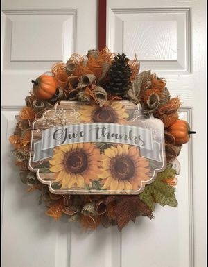 Fall Mesh Wreath for Sale in Raleigh, NC