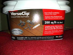 VersaClip, Stainless steel Universal Hidden Deck Fastner. Secures 400 sq. ft of Decking for Sale in Medford, OR