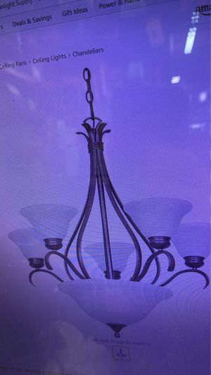 Sunset Lighting F5588-53 Chandelier Satin Nickel Finish for Sale in Los Angeles, CA
