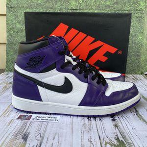 Nike Air Jordan Retro 1 High OG Court Purple White 2.0 2020 - Mens Sz 12 for Sale in Arlington, VA