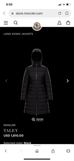 New Moncler Talev Long Down Jacket(Size 1) for Sale in Walnut, CA