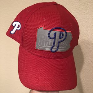 """Philadelphia Phillies New Era 39Thirty Stretch Fit Pennsylvania """"Swing State"""" Reflective Map Cap for Sale in Gilbert, AZ"""