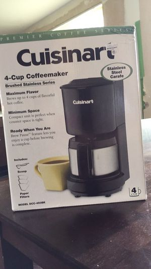 Cuisinart 4 cup coffee maker for Sale in Philadelphia, PA