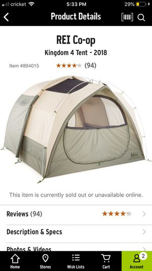 REI Kingdom Tent and camp bed set for Sale in Gresham, OR