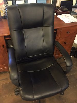Office Chair (Culley Luxura Manager's Chair, Faux Leather, Black) for Sale in Philadelphia, PA
