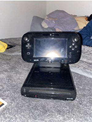 Nintendo Wii U Black 32gb Console - With Gamepad and All Cables. Soft Brewed for Sale in Lawndale, CA