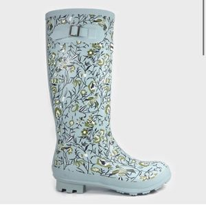 Women's Tall Floral Rain Boot Blue Size 7,8,9 Smith & Hawken for Sale in El Monte, CA