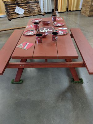 5ft 49ers picnic table for Sale in Santa Maria, CA