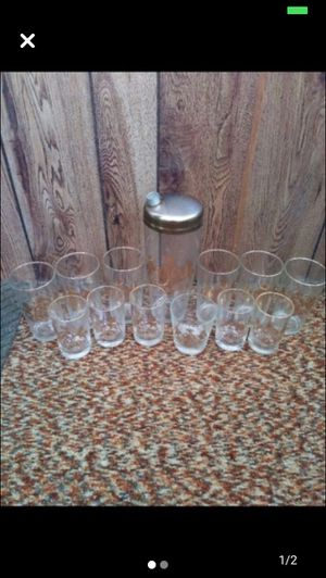 Antique gold-lined Pennsylvania Margarita set - is a complete set for Sale in Milnesville, PA