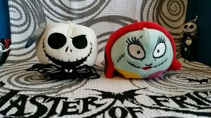 2 X The Nightmare Before Christmas Collectable Jack and Sally Hallmark Fluffballs. for Sale in Round Rock, TX