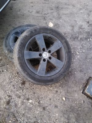Whole set Civic rims and tires black 130 obo for Sale in Columbus, OH