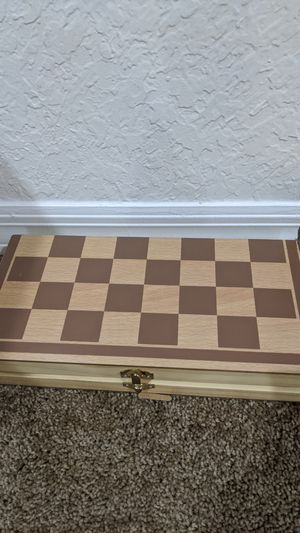 Chess game board/holder + pieces for Sale in Port St. Lucie, FL