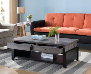 Ordaz Coffee Table, Distressed Grey and Black for Sale in Westminster, CA