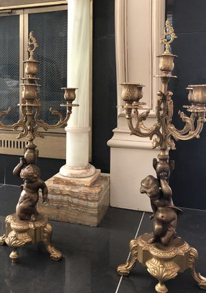 "Gorgeous, Antique/ Brass Candelabras 22"" Tall. for Sale in Grapevine, TX"