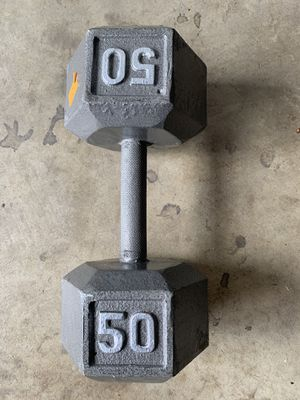 Dumbbell weight 50 lbs for Sale in Santa Ana, CA